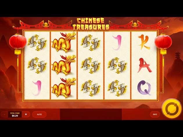ตัวอย่างเกมสล็อต Chinese Treasures