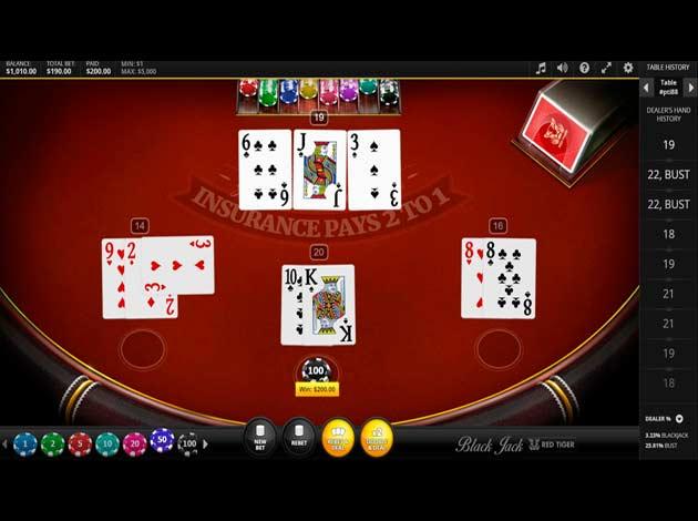 ตัวอย่างเกมสล็อต Classic Blackjack