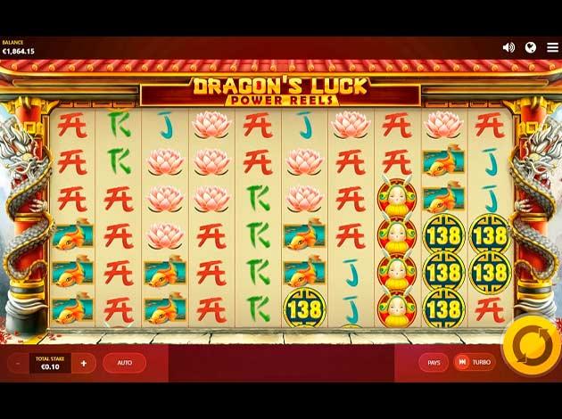 ตัวอย่างเกมสล็อต Dragon's Luck Power Reels