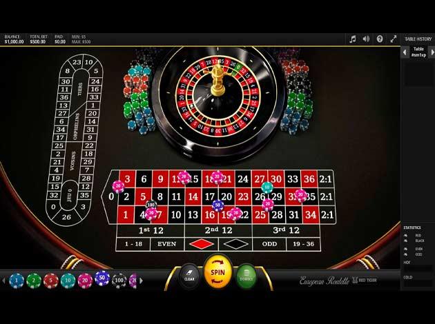 ตัวอย่างเกมสล็อต European Roulette