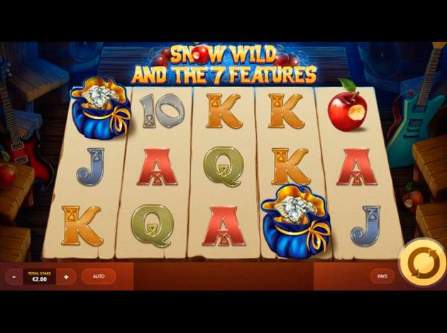 ตัวอย่างเกมสล็อต Snow Wild and the 7 Features