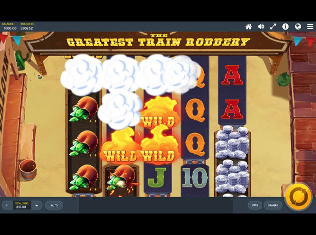 ตัวอย่างเกมสล็อต The Greatest Train Robbery